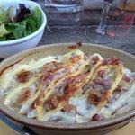 The local Savoyard dish - Tartiflette, very tasty