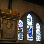 Stained glass inside St Albans