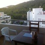 Uno dei due balconi del nostro appartamento