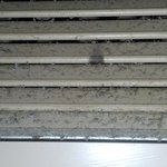 dirty vents in room