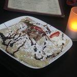 YUM! chocolate ice cream and strawberries