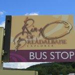 one of the new bus stops for Breadalbane Explorer