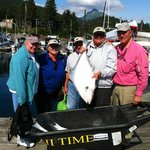 One of the many halibut we caught with HiTime Charters.