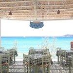 Cyclades beach restaurant