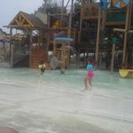 One of the kids water park areas