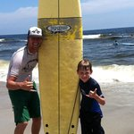 First surfing lesson!!!