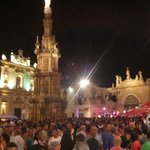 Piazza di Nardò durante una festa