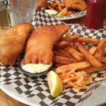 Fish and Chips: Salmon & Lingcod