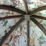 A general view of the roof paintings