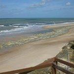 Alguns pontos de apoio na Praia das Fontes não permitem facil acesso à praia