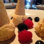 Homemade Bourbon Ice Cream Mini-cones