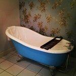 The funky blue bath