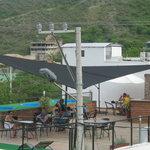 Restaurante en la terraza.