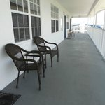 Shared balcony, all have similar furniture