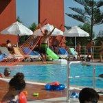 Pool, vorbereitung zum Wasserwolleyball