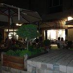 Le cour du restaurant