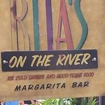 Rita, s on the River Sign