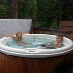 Hot Tub on our deck, Cabin #14.
