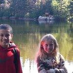 My kids got photo bombed by an elk!