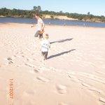 Correndo nas areias macias da Praia das Areias Brancas de Rosário do Sul-RS