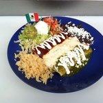 Mexican flag enchiladas