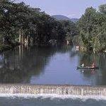 The Medina River Dam in Bandera
