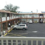 View from room overlooking the parking lot