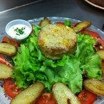 Salade de chèvre aux deux pommes