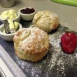 Traditional Cream Tea with homemade Scones baked daily
