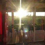 Terrasse, Coucher de soleil