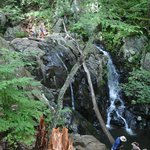 Larger spectacular waterfall with swimming hole near Big Meadow