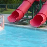 Water Slides at the Pool