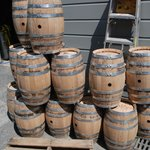 Barrels waiting to be filled
