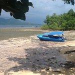 bassa marea di fronte al resort