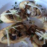 Wild Mushroom Truffle Brushcetta