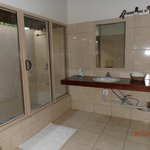 Downstairs bathroom with outdoor shower