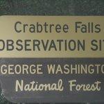 Signage at the falls