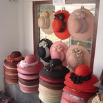 selfmade hats from locals
