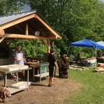 Cob Pizza oven and Townshend Farmers Market