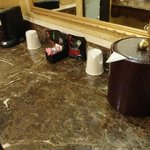 counter with coffee maker