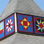 Motel Cupola with Quilt Squares