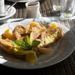 Croissant french toast - orange