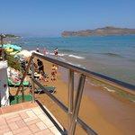 5 trin ned til stranden