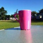genieten van een kopje koffie