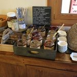 Selection of breakfast jams!