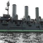 """Panorama sulla barca (nave da guerra """"in pensione"""")"""