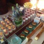 Conrad lobby lounge buffet