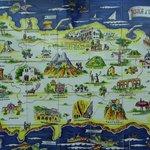 Mappa murale in ceramica