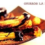 Churros with dark chocolate