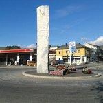 inizio del centro città - rotatoria e6 per nordkapp